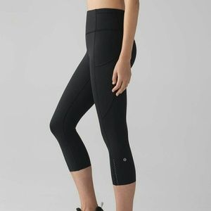 Lululemon 🔥Black Fast and Free Crops